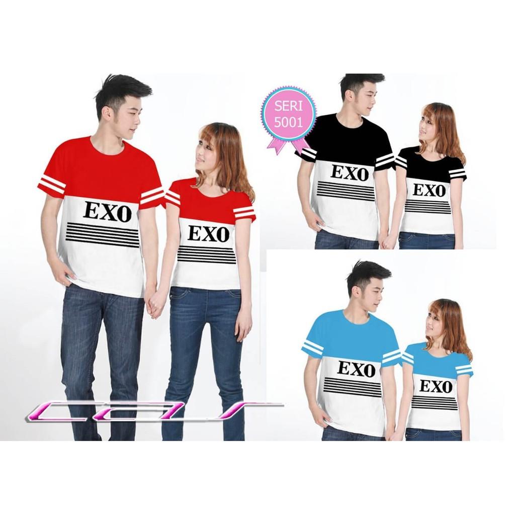 M1 Couple Fila Style / Fashion Wanita Murah meriah pria / baju pasangan kaos mumer reseller tumblr | Shopee Indonesia