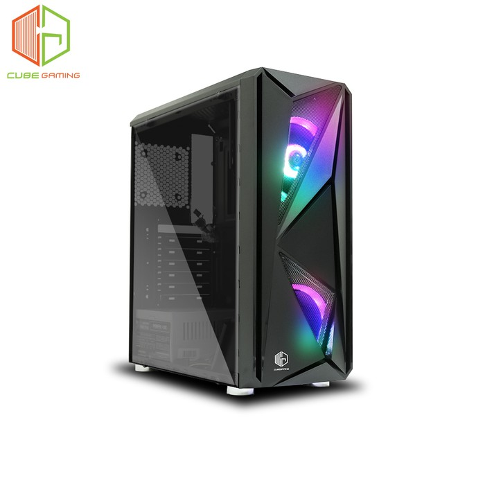 Cube Gaming Strofa Tempered Glass Atx 2x Autoflow Rgb Fan Shopee Indonesia
