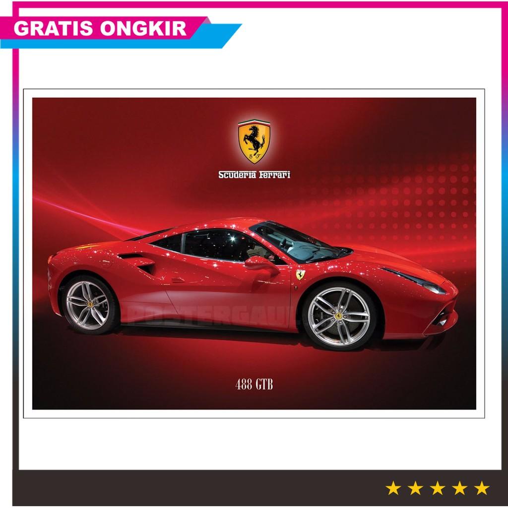 Jual Poster Ferrari 488 Gtb Jumbo Size 50 X 70 Cm V2cy Murah Shopee Indonesia