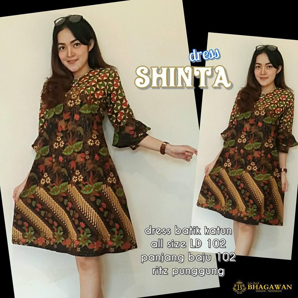 Download Desain Baju Dress Batik Muslim | Desaprojek