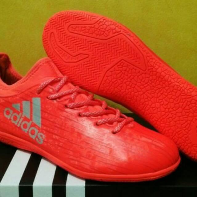 Artes literarias almohada Malawi  Sepatu futsal Adidas X 16.3 Solar Red | Shopee Indonesia