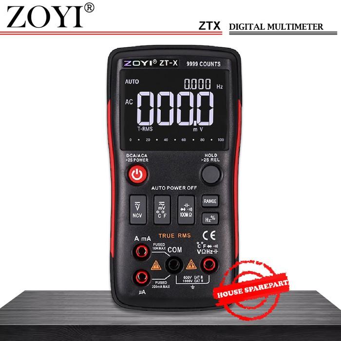 Msn Zoyi Ztx Auto Multimeter Digital Multitester Avometer Digital Ori Shopee Indonesia