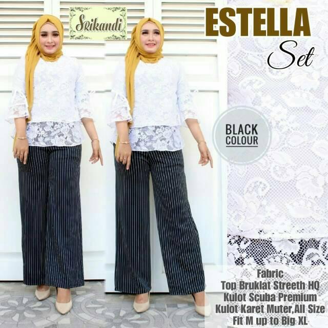 New Product Set Jelita 2In1 Hitam Baju Setelan Wanita Kekinian Modern Produk Murah | Shopee Indonesia