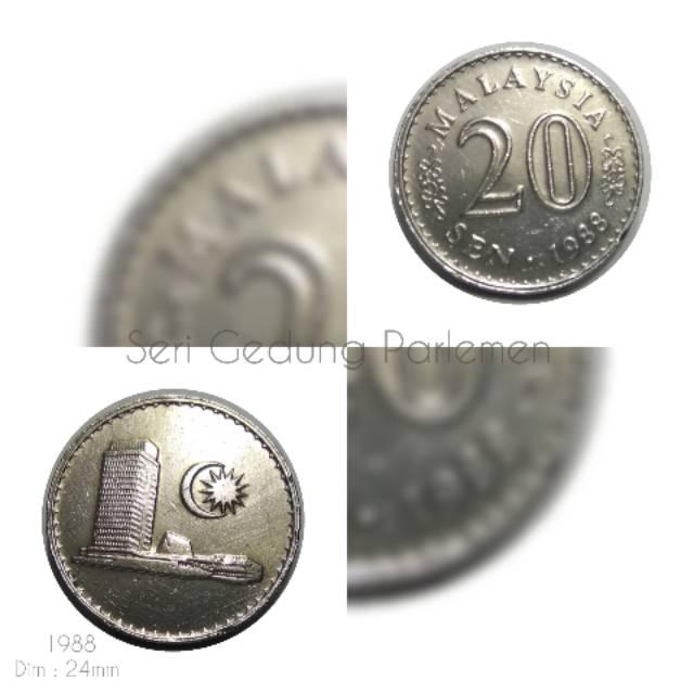 Koin Malaysia 20 Sen Gedung 1988