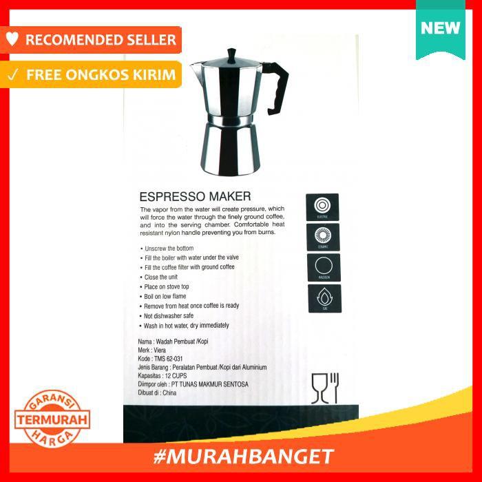 Dapur Coffee Maker Espresso Maker Alat Pembuat Penyeduh Kopi Viera 12 Cups Shopee Indonesia