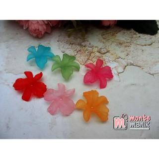 20 Pcs Akrilik Bunga Anggrek Doff Akr 070 Flanel Shopee Indonesia
