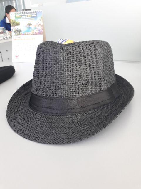 Topi Jerami Bergaya Musim Panas Topi Topi Fedora Hat Topi Panama Trilby Jazz HitamIDR62000. Rp