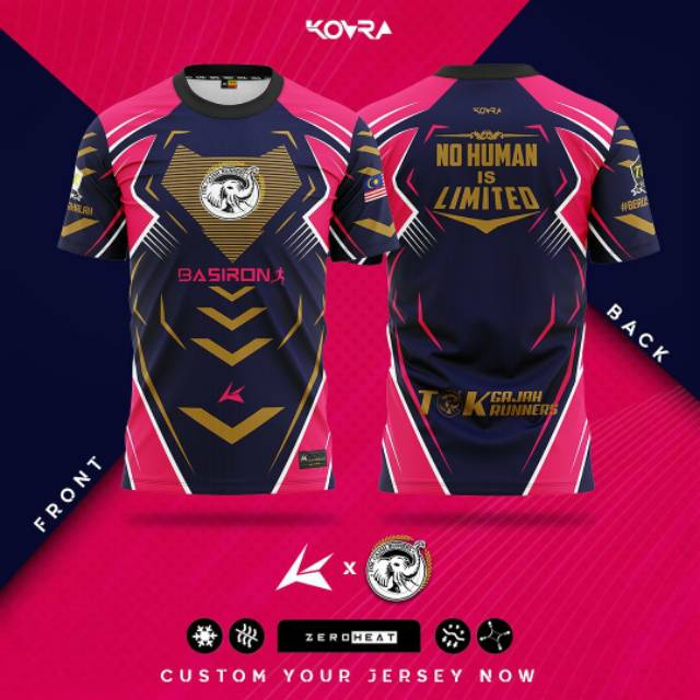 KAOS JERSEY GAMING ESPORT BEBAS CUSTOM DESAIN 09 GAME MLBB ...