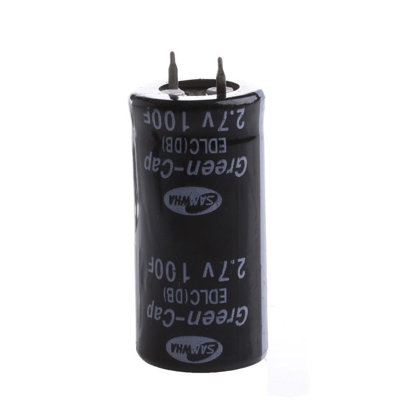2pcs Super Capacitor 2 7v 100f Ultra Capacitor Farad Shopee Indonesia