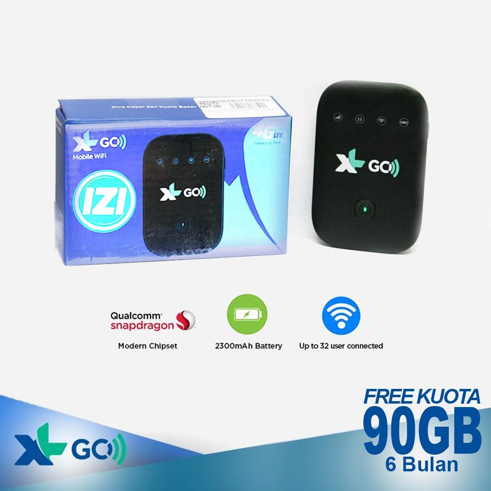 Mifi Modem Xl Go Izi Paket Perdana 90gb 6 Bulan Hitam Shopee 4g Huawei E5577 Free Telkomsel 14gb Dan Indonesia