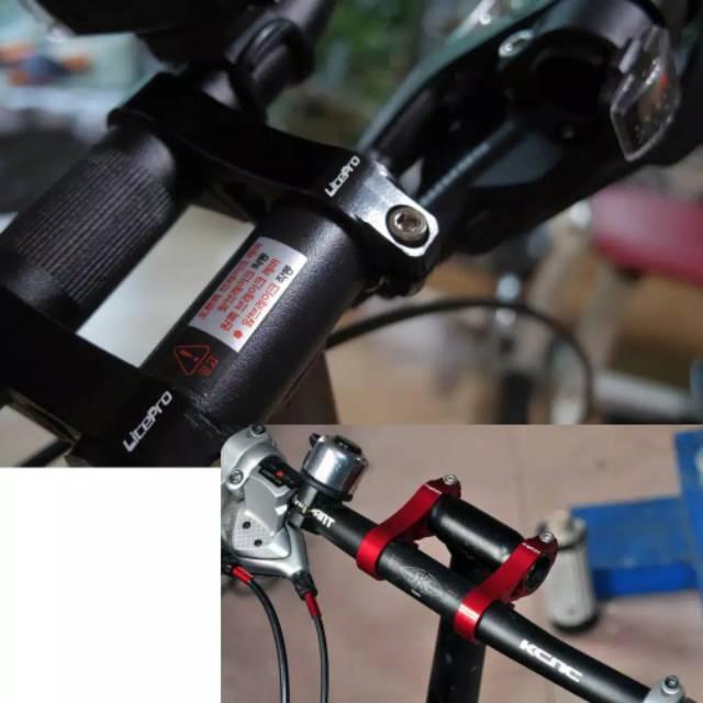Litepro Double Stem Riser 25 4 Mm Sepeda Lipat Adaptor Handlebar Stang Dahon Tern Fnhon Brompton Shopee Indonesia