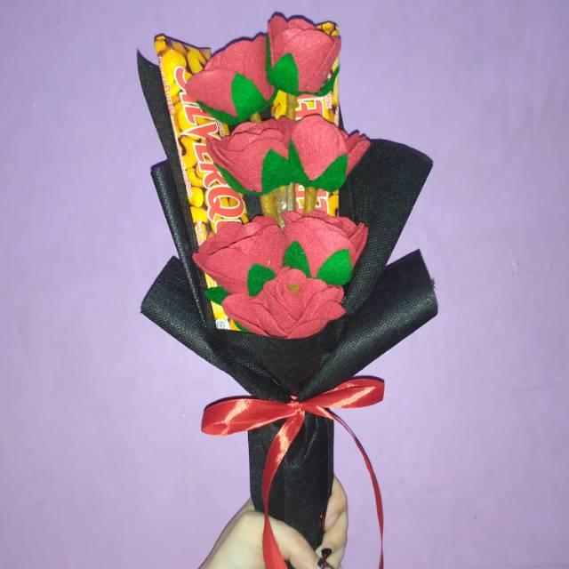 Buket Bunga Coklat Valentine Wisuda Shopee Indonesia