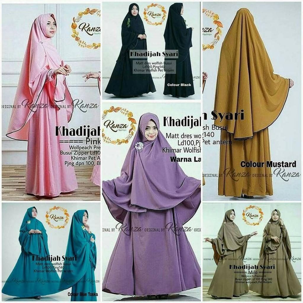 Termurah Syari wolfis/Muslim Wanita/Baju Murah/Mariam ...