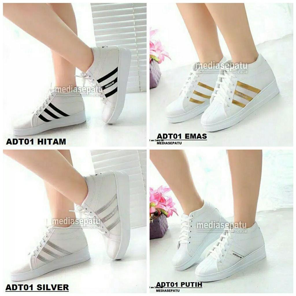 Sepatu Adidas Strip Hitam Ayu Ting Shopee Indonesia Amazara Evelyn White Sneakers Putih 36