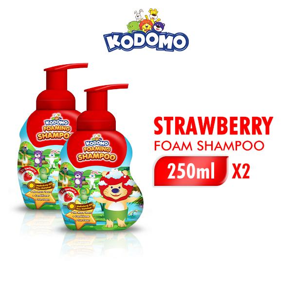Kodomo Shampoo Foam Strawberry 250 ml - 2 Pcs