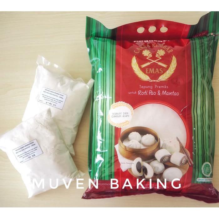 Tepung Cakra Kembar Emas Roti Pao Mantao 1 Kg Shopee Indonesia