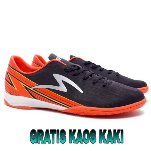 Sepatu Futsal Specs Accelerator Lightspeed 20 In Black Bright