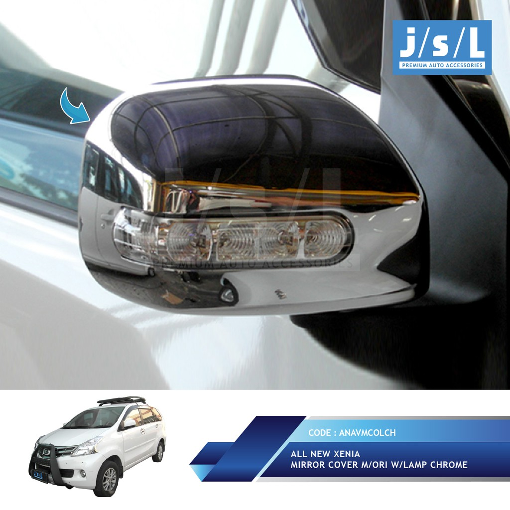 All New Xenia Mirror Cover Chrome With Led Shopee Indonesia Headlamp