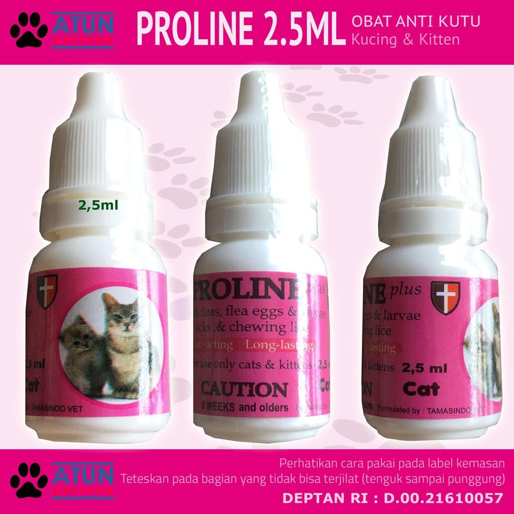 Obat Kutu Kucing Proline Plus Cat Terdaftar Deptan Shopee Indonesia