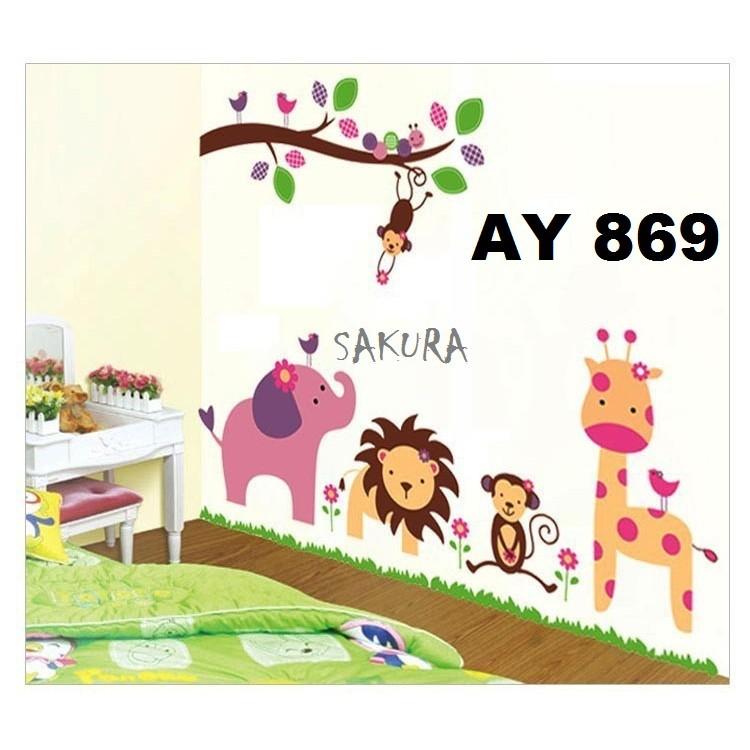 Wallstiker hewan/Wallstiker monkey/Stiker dinding JM7277 | Shopee Indonesia