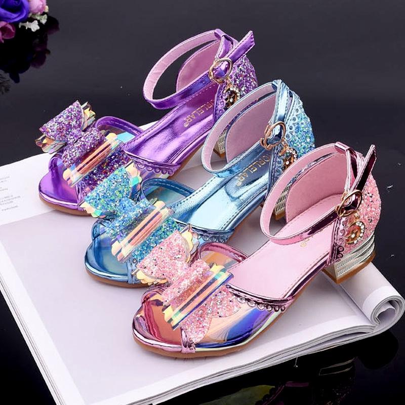 Cod Sepatu Anak Perempuan Princess Kristal Sepatu Putri Hak