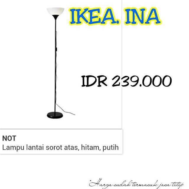 (Diskon) IKEA NOT Lampu lantai sorot atas lampu baca putih. | Shopee Indonesia