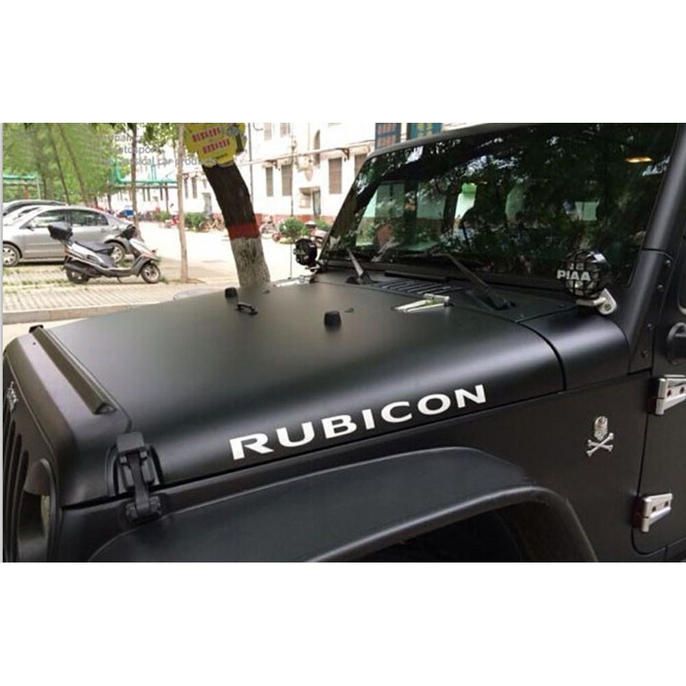 Bestseller 2pcs warna putih stiker rubicon engine hood fender side rubicon sticker decal vinyl for shopee indonesia