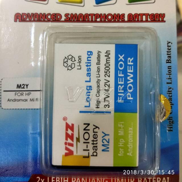 Baterai batt batre battery double power vizz smartfren andromax e2+ plus dan andromax qi | Shopee Indonesia