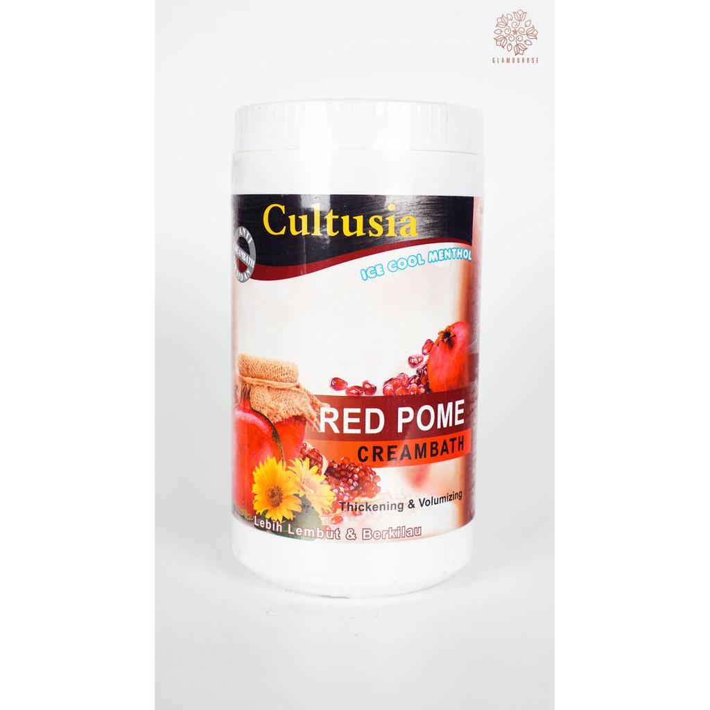 Cultusia Red Pome Creambath 1000 Ml Shopee Indonesia