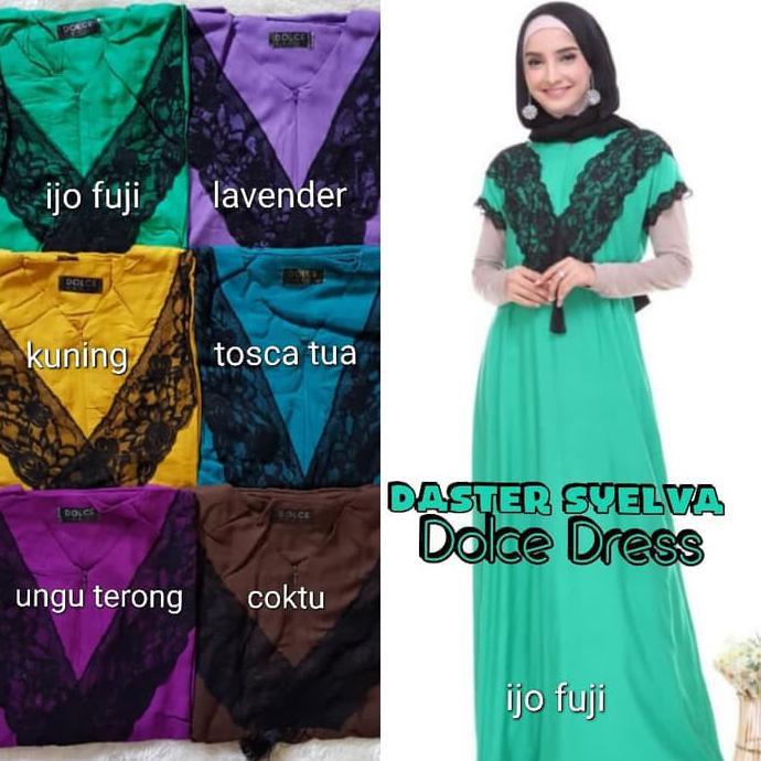 Dress Jumbo Arab/India/Dubai/Turki Dolce Alisha Daster Busui | Shopee Indonesia