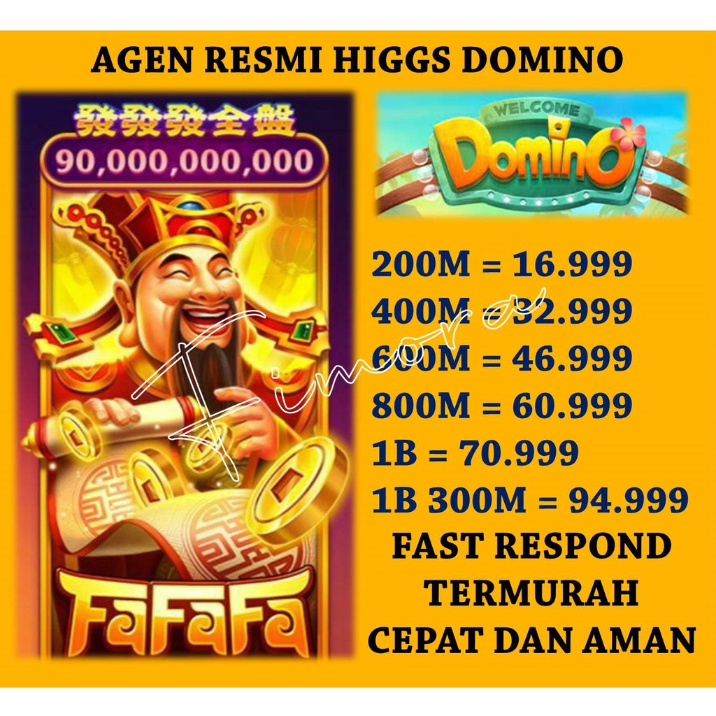 PROMO TOP UP KOIN COIN CHIP HIGGS DOMINO ISLAND AGEN RESMI MURAH AMAN