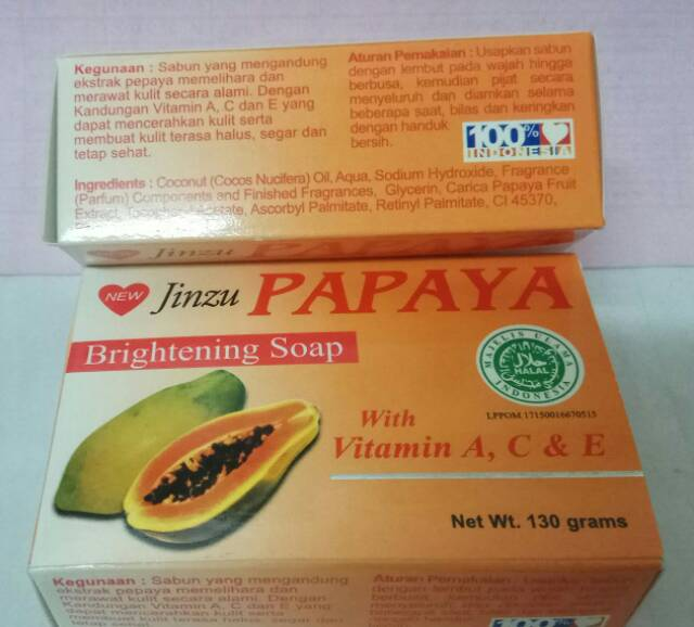 Sabun Papaya Jinzu 130gr 100 Asli Papaya Shopee Indonesia