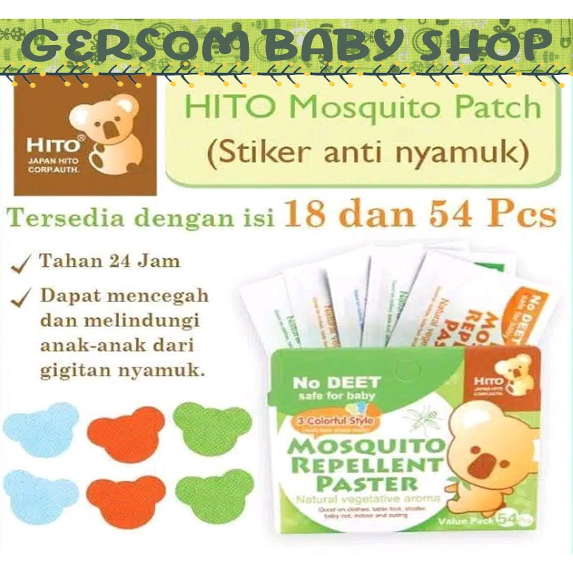Hito - Sticker Anti Nyamuk - Mosquito Patch / Repellent Paster