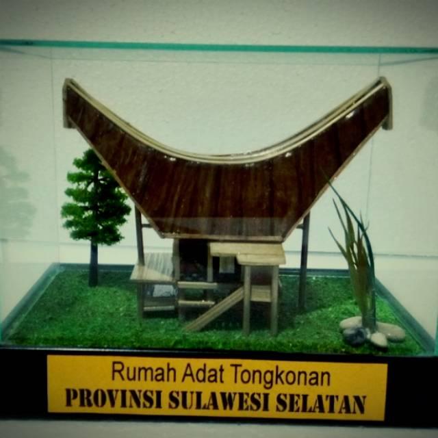 Miniatur Rumah Adat Tongkonan Sulawesi Selatan Shopee Indonesia