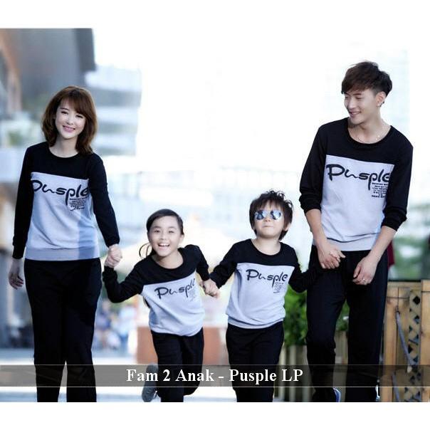 Baju Keluarga Kekinian Couple Ayah Ibu Anak Terbaru Lengan Panjang Baju Keluarga 2 Anak Pusple Lp Shopee Indonesia