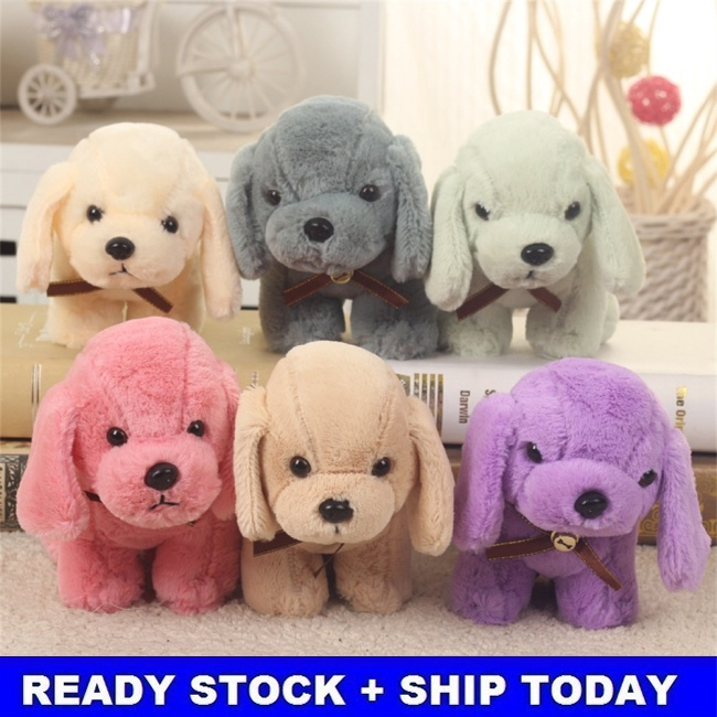 This Is Fine Dog Stuffed Animal, Pp Cotton Cute Pet Plush Toy Lovely Gog Doll Toy With A Bell Fine Workmanship Multiple Colors Shopee Indonesia