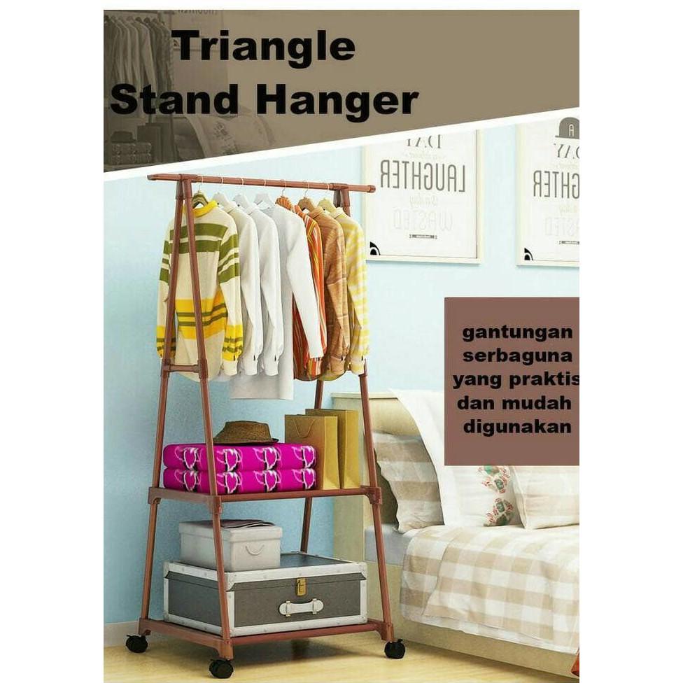 Multifunction Standing Hanger Gantungan Baju Topi Tas Daftar Harga Stand Tiang Berdiri Kualitas Terbaik Shopee Indonesia