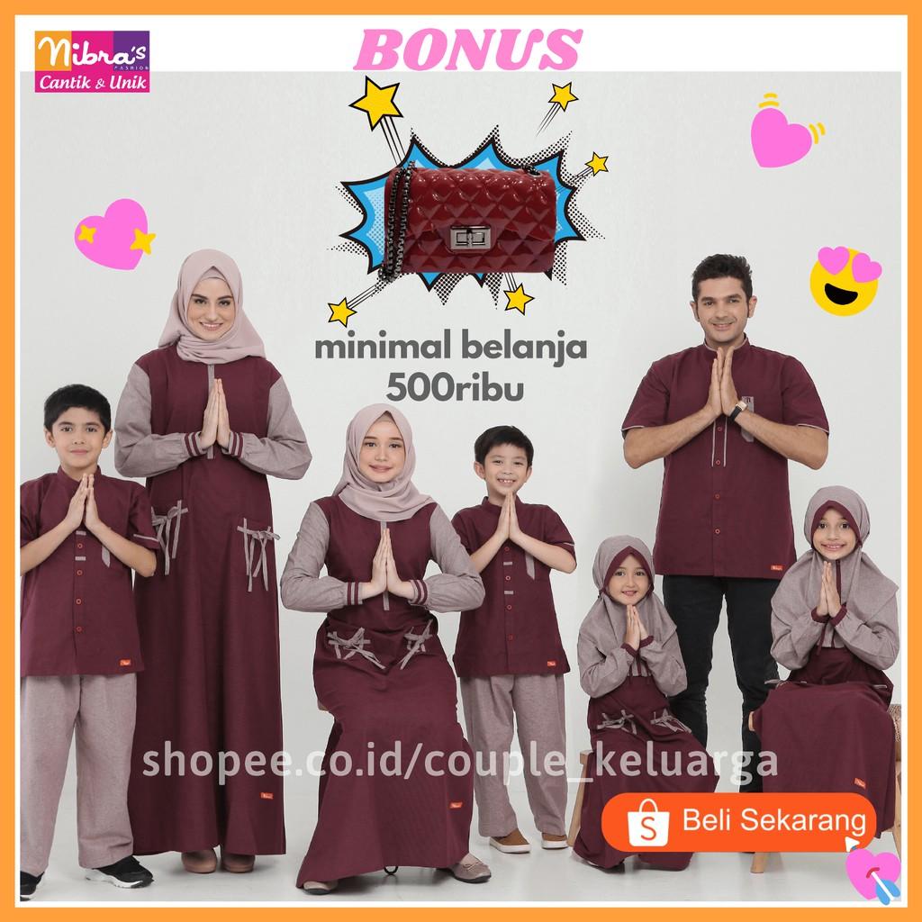 Baju Gamis Nibras Sarimbit Couple Kapelan Seragam Lebaran Keluarga Muslim Ayah Ibu Dan Anak 2020 68 Shopee Indonesia
