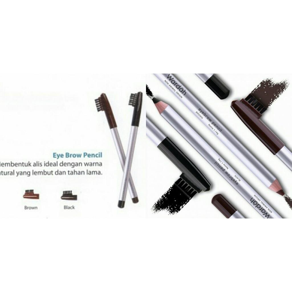 Wardah Eyebrow Pencil Dengan Sikat Alis Pensil Shopee Indonesia Eyebrowpensil