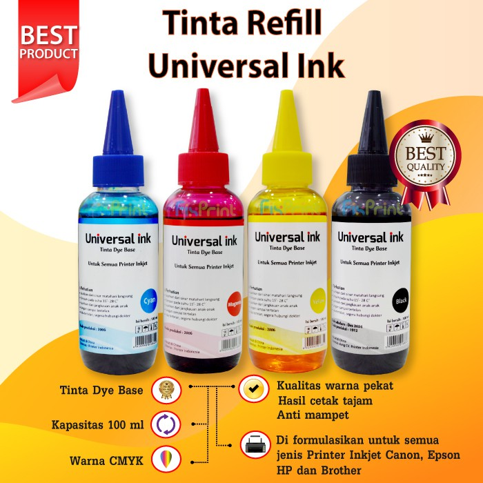 Tinta Epson Premium Ink Black 100ml Dye Base Epson T664 664 L210 L220 L360 L350 L120 L110 L310 L300 Shopee Indonesia