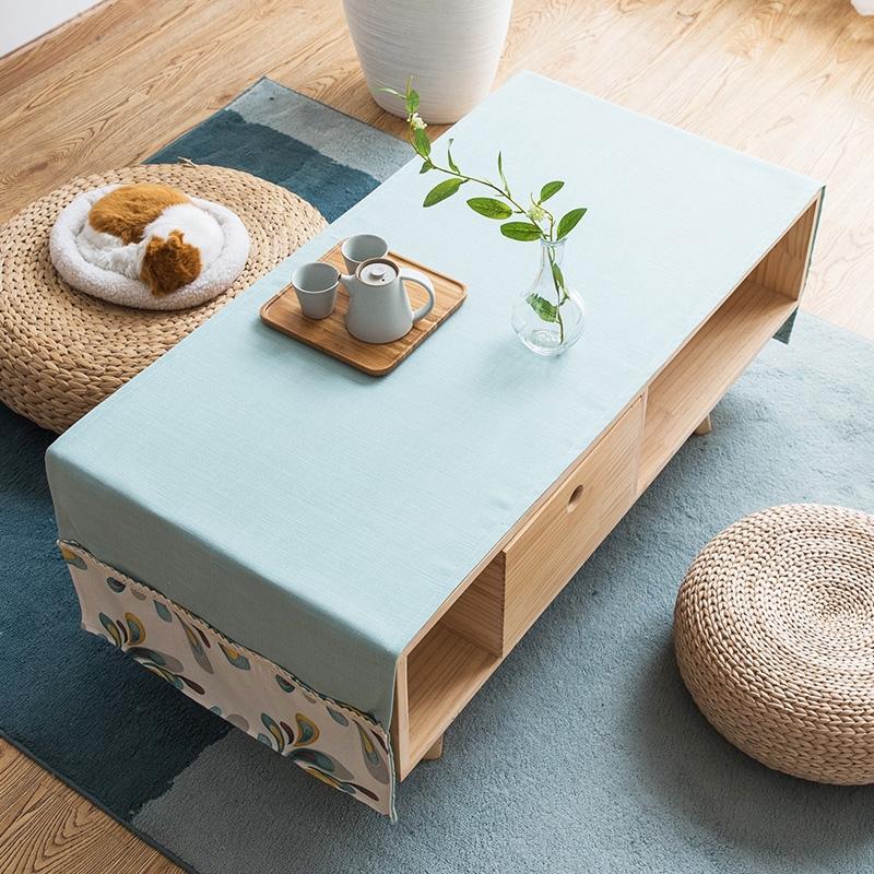 Nordic marmer sederhana meja kopi taplak kapas rami kain ruang persegi panjang Modern Gabe kabinet | Shopee Indonesia
