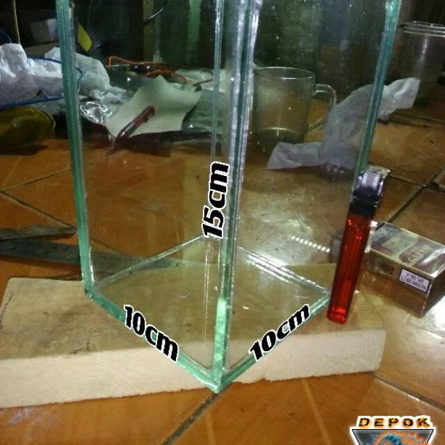 Aquarium Ikan Cupang Ukuran 10x10x15cm Shopee Indonesia