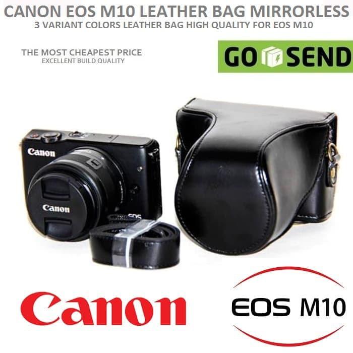 Leather Bag   Case   Tas Kamera Kulit Canon EOS M10 15-45   18-55 M ... 4fa9312954