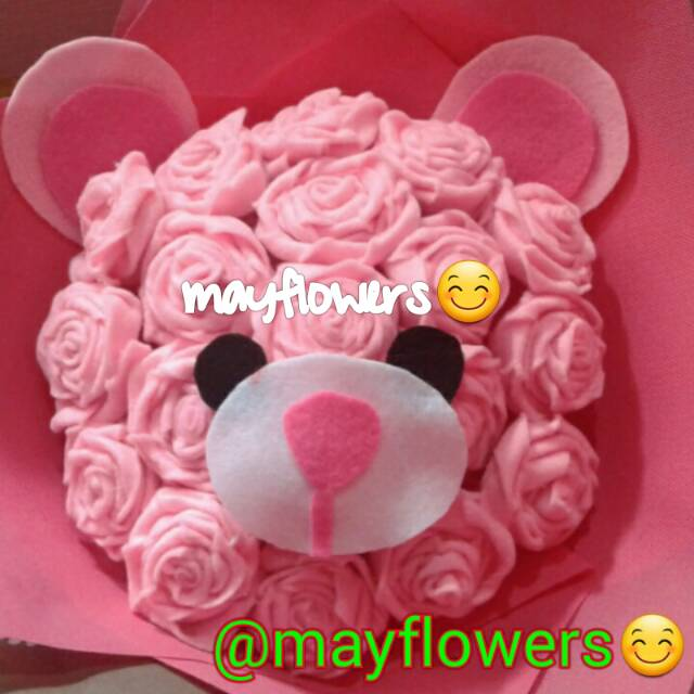 Buket bunga teddy bear pink  buket bunga mawar flanel buket bunga kartun  tangkai  b57c181ff2
