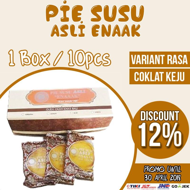 Pie Susu Asli Enaaak Coklat Keju Isi 10pcs Shopee Indonesia