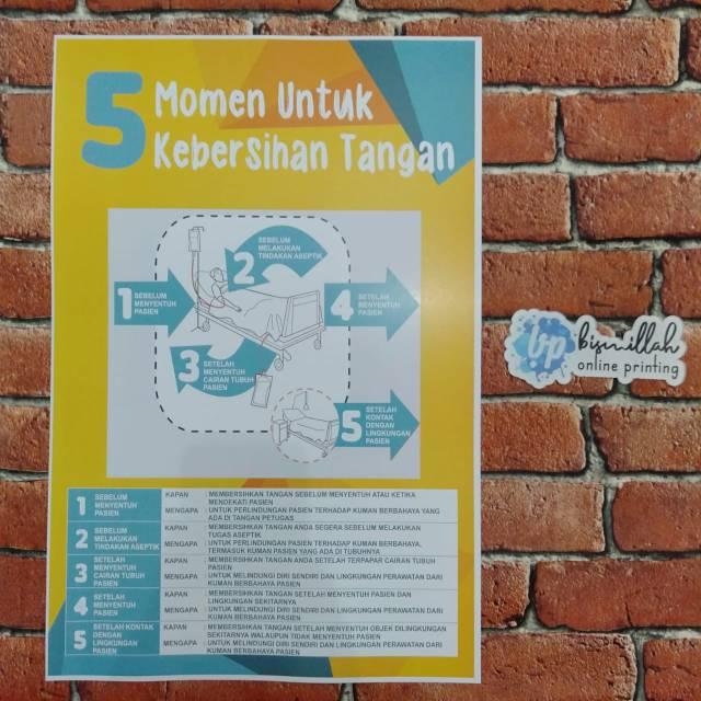 Poster 5 Moment Kebersihan Tangan Bagi Team Medis Poster Kesehatan