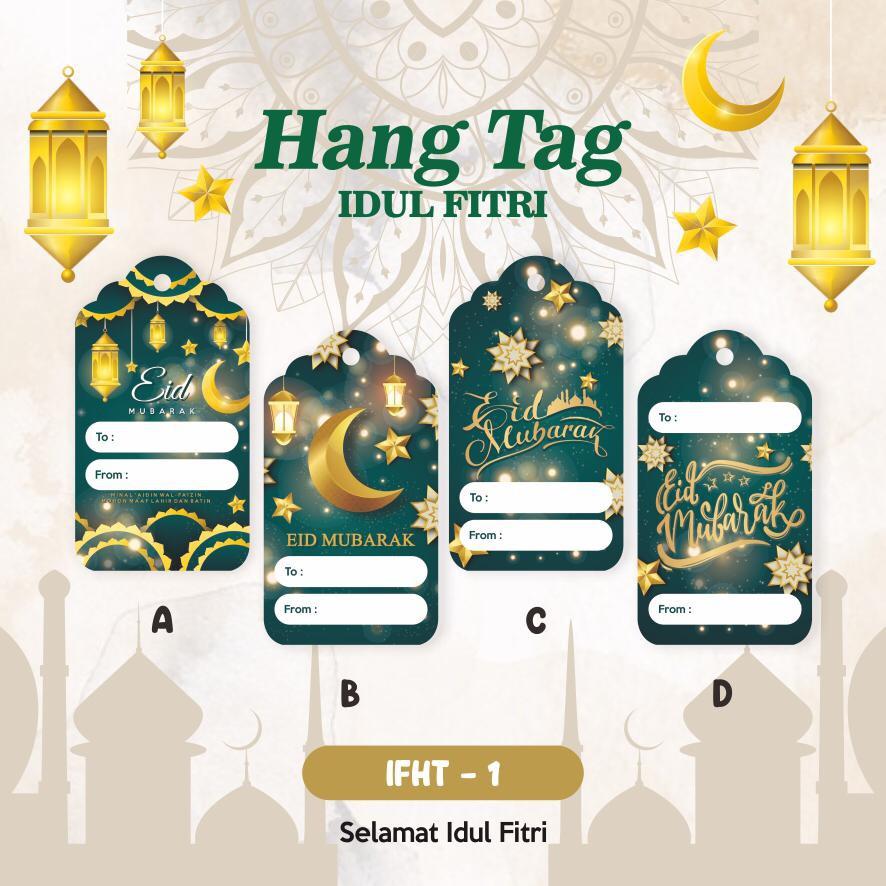 Hang Tag Label Kartu Ucapan Mini Souvenir Bingkisan Lebaran Idul Fitri Eid Mubarak 12 Pcs Shopee Indonesia