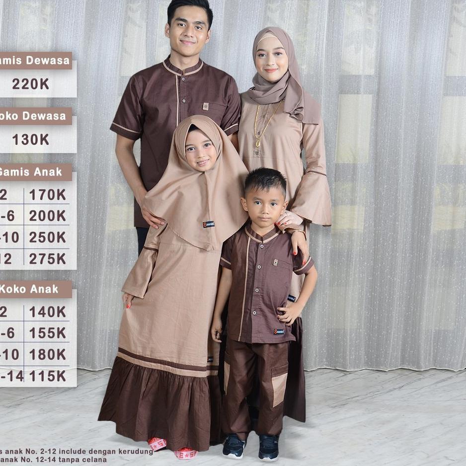 Penjualan Terbanyak.. Sarimbit Busana Muslim Keluarga Gamis Couple Terbaru  Choco