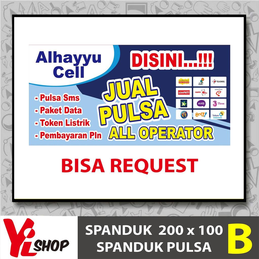 Spanduk Pulsa Konter Pulsa Jualan Pulsa Banner Pulsa Shopee Indonesia