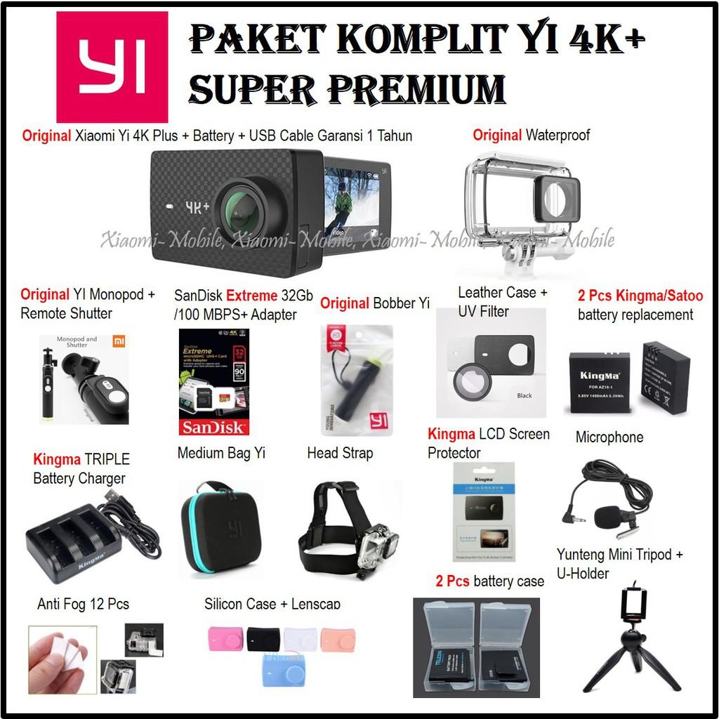 Xiaomi Mijia 4K Action Cam & Xiaomi Action Camera Handheld Gimbal +1 4Connect 64GB Class10 MicroSD | Shopee Indonesia